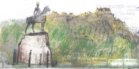 Edinburgh Castle statue