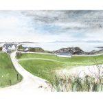 watercolour, pastel and pencil 76cm x 40cm