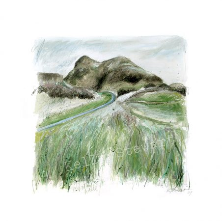 watercolour, pastel and pencil 20cm x 20cm