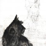 watercolour, pastel, pencil and screenprint 38cm x 56cm